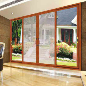 Feelingtop Excellent Soundproof Double Layer Tempered Glass 2.0mm Aluminum Sliding Door (FT-D120) pictures & photos