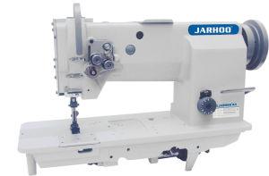 Double-Needle Flat-Bed Belt-Drive Heavy Duty Compound Feed Lockstitch Sewing Machine (JH-4420)