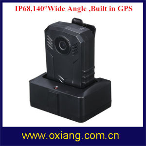 Built in GPS 32g Police Camera Wide Angle 140 Degree IP67 Police Wearable Body Camera pictures & photos