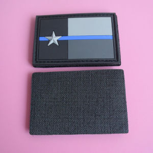 Retangle PVC Patch Embossed 3D Star Design Patch pictures & photos