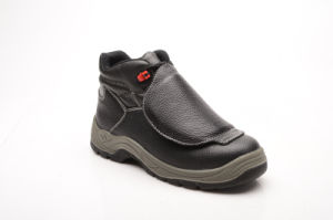 Casual Style Split Embossed Leather & PU Safety Shoes (HQ05073) pictures & photos