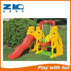 Indoor Rabbit Children Plastic Slide and Swing for Kindergarten pictures & photos
