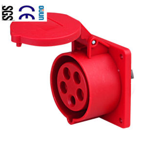 Industrial Socket (QJ-N315) of IP44 16A 3p+E+N Plastic PA66
