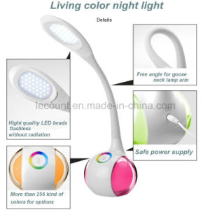 LED Table Lamp with Touch Dimmer and RGB Color Light (LTB020) pictures & photos