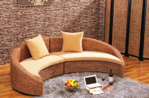Living Room Moon Sofa Sets Rattan Home Furniture