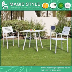 Aluminum Dining Set High Quality Dining Chair Stackable Chair Outdoor Coffee Table (Magic Style) pictures & photos