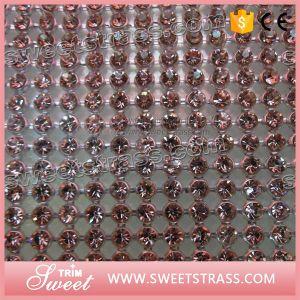 Pink Rhinestone Chain Trim Net Mesh Hotsale pictures & photos