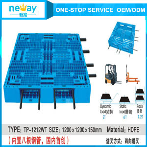 New Design Plastic Material and 4-Way Entry Type Euro Plastic Pallet pictures & photos