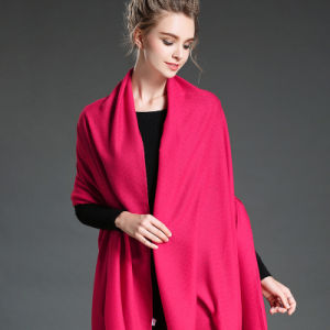 Women in Winter to Keep Warm Plain Mei Red   Polyester Scarf Shawl pictures & photos