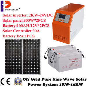 Hybrid Solar Inverter with Pwn Controller 2000W/2kw LCD Screen pictures & photos