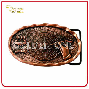 Fashion Design Irregularity Antique Plated Metal Belt Buckle pictures & photos