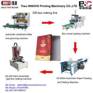 Automatic Gift Box Making Line pictures & photos