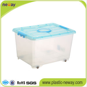 Large Transparent Plastic Storage Box with Lid pictures & photos