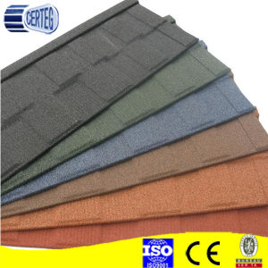 colorful sand coated metal roofing tile new classical tile pictures & photos