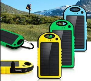 Solar Panel 4000mAh Portable Backup Power Bank pictures & photos