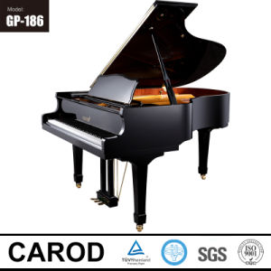 186cm Ebony Polish Grand Piano pictures & photos