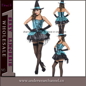 Halloween Midnight Hour Witch Cosplay Adult Party Costume (TDD80694) pictures & photos