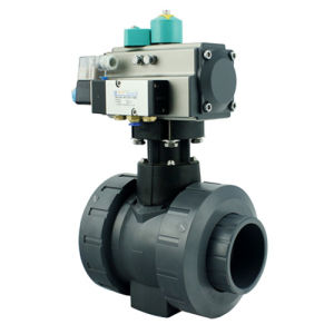 DIN ASTM Standard Pneumatic Actuated PVC Ball Valve with Union pictures & photos