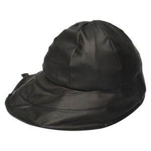 Black PU Rain Hat /Rain Cap/Raincoat for Adult pictures & photos