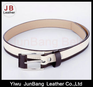Covered Buckle PU Leather Belt