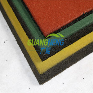 Interlocking Colorful Plaza Gym Fitness Elastic Rubber Tiles, Anti-Slip Outdoor Rubber Flooring pictures & photos
