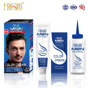2016 Men Natural Looking Hair Color Cream with Black