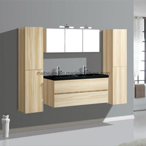 Big Size Wall Hung MDF Bathroom Vanity with Side Cabinet pictures & photos