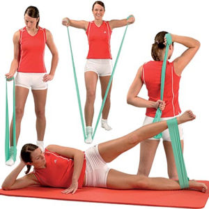 Stretch Yoga Pilates Elastic Band for Gym Exercise pictures & photos