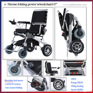 Golden Motor 8′′, 10′′, 12′′ E-Throne Reclining Small Lightweight Hadicapped Power Electric Wheelchair for Disabled People pictures & photos