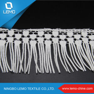 100% Cotton Lace White in Thin Width pictures & photos
