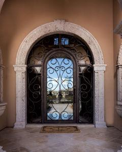 Luxury Villa Wrought Iron Entry Doors (UID-S040) pictures & photos