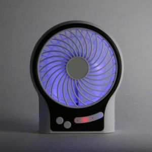 LED Lighting Portable Desk USB Rechargeable Super Mute Mini Fan pictures & photos