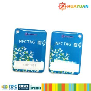 Barcode printing RFID MIFARE Classic 1K Epoxy keychain tags pictures & photos