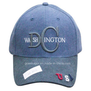 Structured Denim Baseball Cap with USA Embroidery pictures & photos