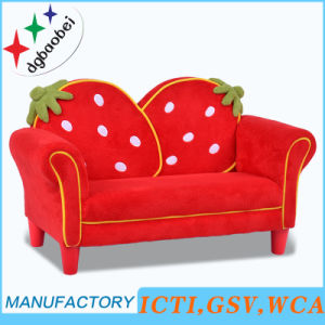 Living Room Stawberry Fabric Kids Sofa Baby Furniture (SF-261) pictures & photos
