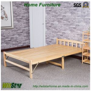Fashion Foldable Wooden Bed for Bedroom Furniture (WS16-0074, for sleeping)