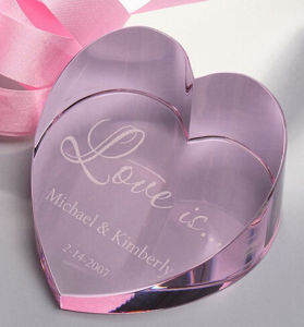 Pink Crystal Glass Heart Paperweight for Office Table Decoration pictures & photos