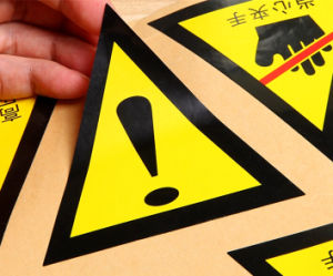 Wholesale Triangle Warning Stickers pictures & photos
