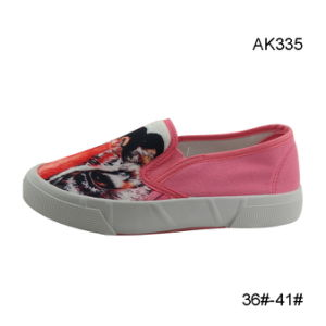 Newest Design Cheap Shoes Injection Women Canvas Casual Boots (AK335) pictures & photos