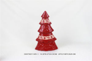 Red Ceramic Christmas Tree Christmas Ornaments pictures & photos