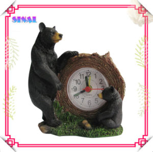 Resin Bear Statue Alarm Clock Decorations