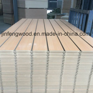 Beech Color Melamine MDF with Slot pictures & photos