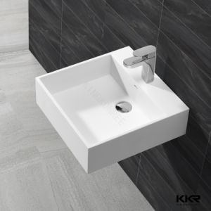 Solid Surface Wall-Hung Bahroom Wash Basin pictures & photos