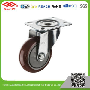 80mm Swivel Plate Red PU Industrial Caster (P103-36F080X30) pictures & photos