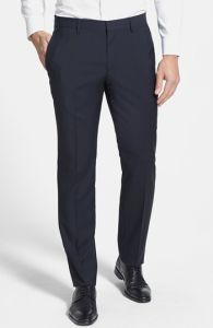 Latest Design Men Solid Flap Front Wrinkle-Free Pants pictures & photos