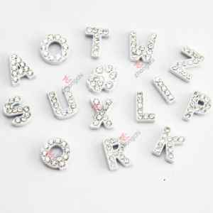 Wholesale 8mm White Color Slide Letters for DIY Jewellery