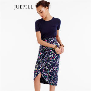 Floral Print Pencial Wrap Beach Women Mini Skirt pictures & photos