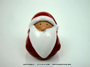 Ceramic Santa Clause Head with LED Light pictures & photos