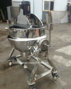 Good Quality Stainless Steel Steam Jacket Kettle with Mixer pictures & photos