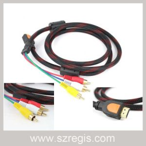 1.5m Gold-Plated AV HDMI to RCA Coaxial Data HDMI Cable pictures & photos